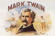 Mark Twain on cigar box
